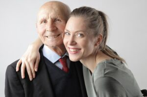Senior Patient And Loved One